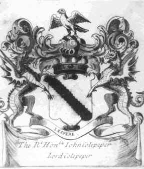 Black coat of arms meaning