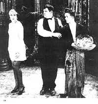 Mrs. Culpepper with Laurel and Hardy